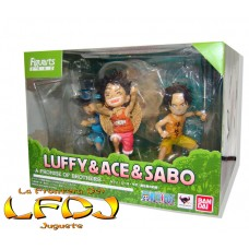 One Piece: Figuarts Zero - Luffy, Ace y Sabo A Promise Of Sworn Brothers Ver.